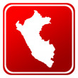 Peru red map button — Stock Photo
