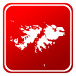 Red map button — Stockfoto