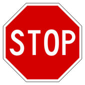 Red stop sign — Stock Photo