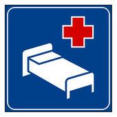 больница знак — Стоковое фото