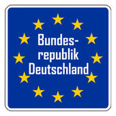 Germany European road sign — Stock Photo
