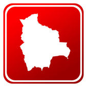 Botón mapa rojo de bolivia — Foto de Stock