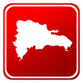 Dominican Republic red map button — Stock Photo