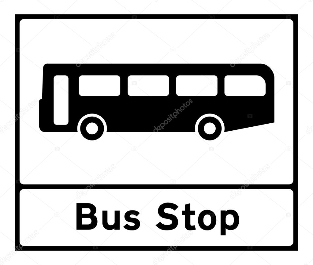 Bus Stop Sign Images Bus Stop Sign Isolated on a