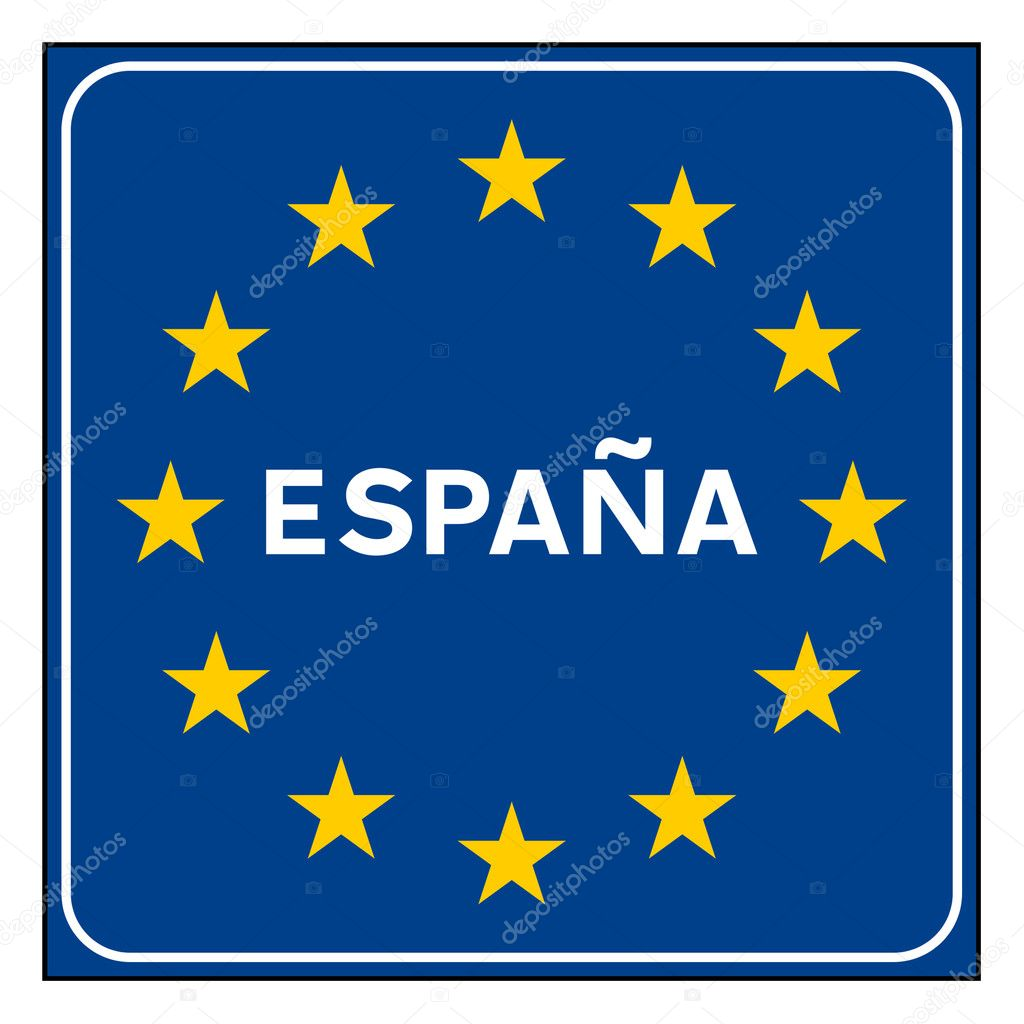 Signs Spain Spain or Spanish Road Sign on