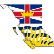 British Columbia map flag — Stock Photo