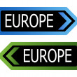Europe road sign — Stock Photo