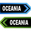 Oceania road signs — Foto Stock