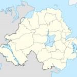 Northern Ireland map — Stock Photo