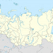 Russian Federation map — Stock Photo