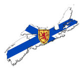 Nova Scotia map flag — Stock Photo
