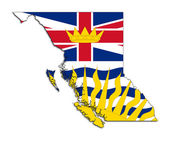 British Columbia map flag — Stock Photo