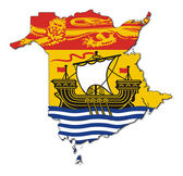 New Brunswick map flag — Stock Photo