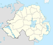 Northern Ireland map — Stock Photo