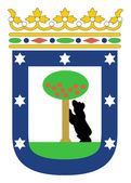 Madrid coat of arms — Stock Photo