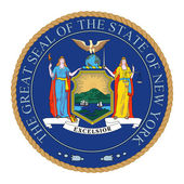 Great Seal of New York — Stock Photo