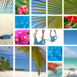 Tropical collage. Exotic travel. — Stock Photo #4297591