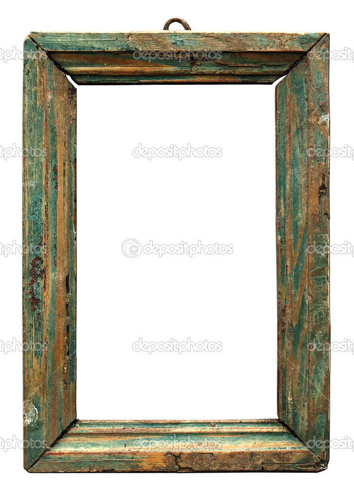 The old wooden frame for a photo. Isolated on white background     — Stock Photo #4355134