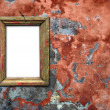Photo Frame on old wall. — Stock Photo