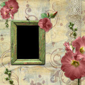 Vintage background with frame for photo. — Stock Photo