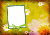 Photo frame on the yellow background — Stock Photo