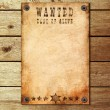 Vintage wanted poster on a wooden wall — Stock Photo #4999602