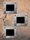 Photo Frames on old wall. — Stock Photo