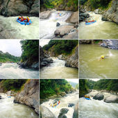 Rafting on the rapids of the river — Stock Photo