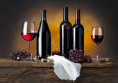 Stil life with red wine — Stock Photo