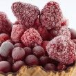 Frozen Raspberries — Foto Stock