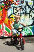 Child Riding a Bike — Stock Photo
