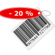 Barcode with labeling — Stock Photo