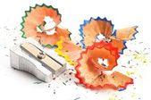 Afeitado de lápiz de color — Foto de Stock