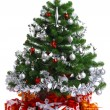 Decorated Christmas tree — Stock Photo #3961087