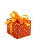 Red gift box — Stock fotografie