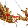 Gold Christmas toy — Stock Photo