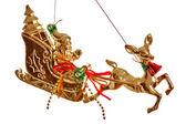 Gold Christmas toy — Stock Photo