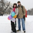 Young couple in winter park — Stock Photo #4265533