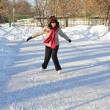 Royalty-Free Stock Photo: Girl on winter skate rink