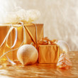Golden Christmas - Foto Stock