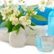 Blue spa with jasmin — Stock Photo