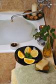 Spa in home bathroom — Stock Photo