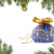 Blue Christmas gift — Stock Photo