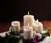 White candles — Stock Photo
