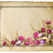 Retro floral frame - Stock Photo