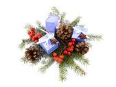 Christmas decoration - giftboxes — Stock Photo