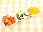 Vegetais frescos - lanche saudável — Foto Stock