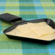 Stock Photo: Raclette pwith cheese