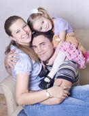 Šťastná rodina — Stock fotografie