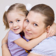 Stock Photo: Mum and daughter